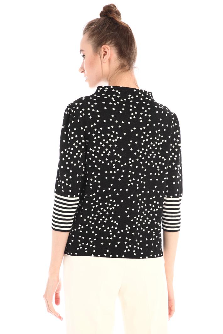 Lurex jacquard sweater Intrend