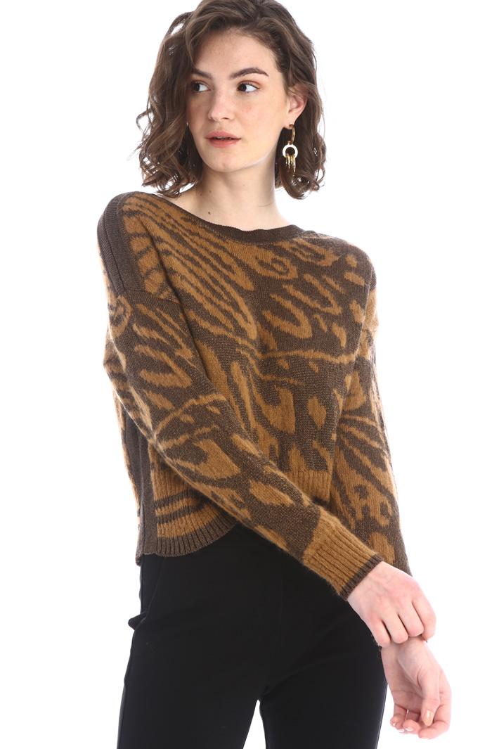 Boxy jacquard sweater Intrend