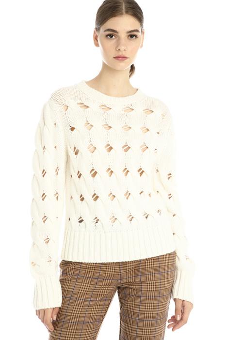 Mesh sweater in wool Intrend