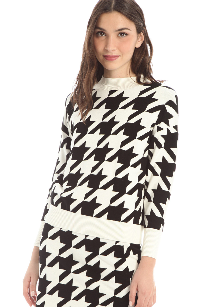 Jacquard viscose sweater Intrend