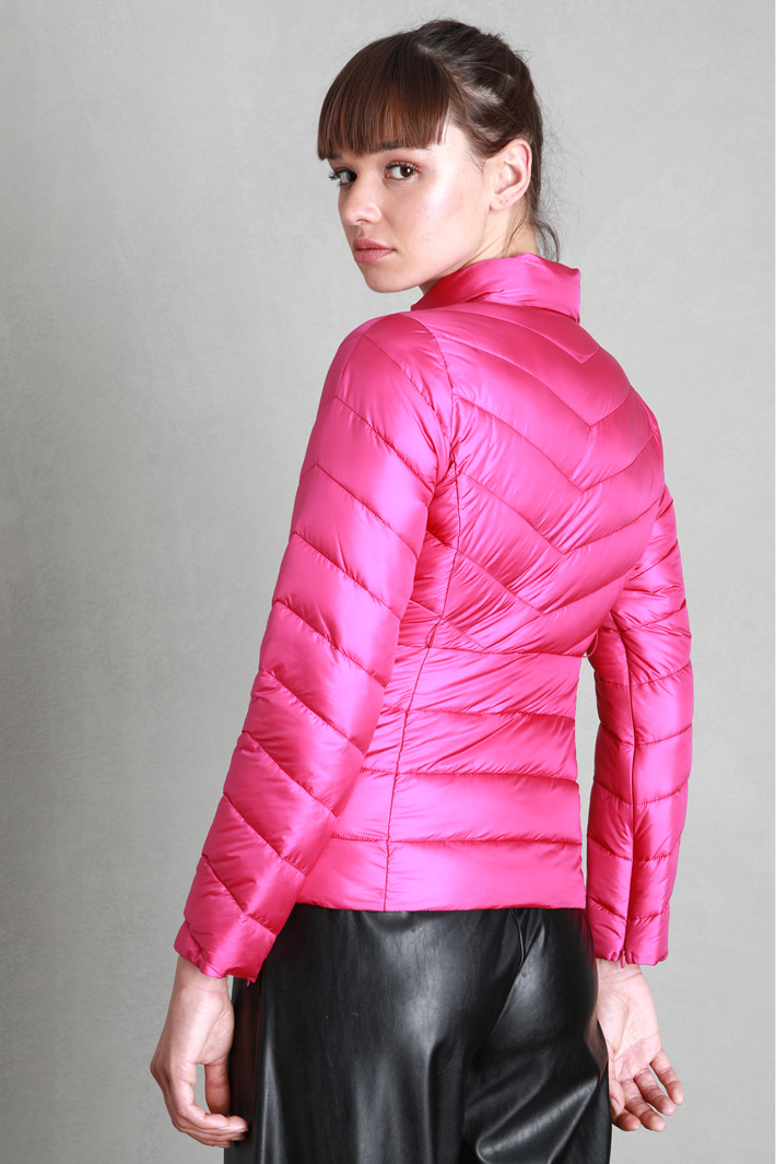 Puffer jacket with belt Intrend
