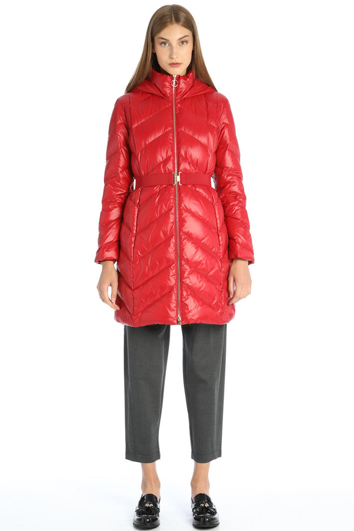 Glossy down coat Intrend