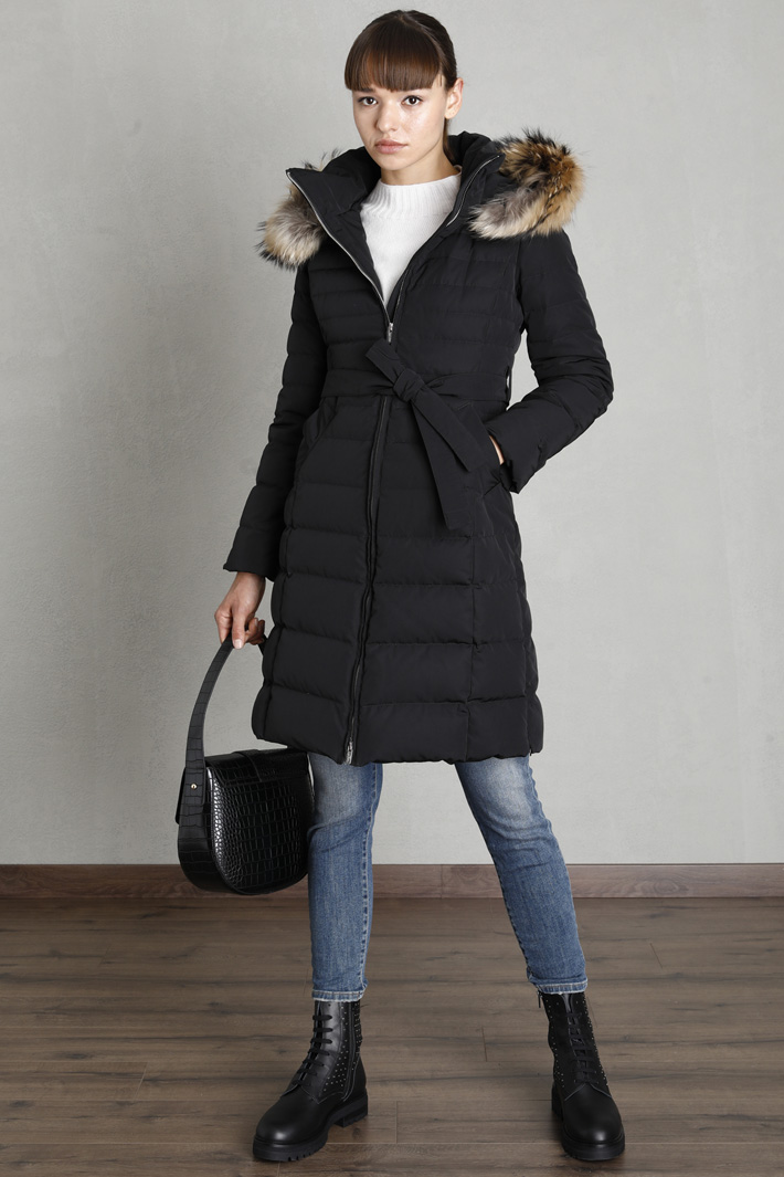 Belted puffer jacket Intrend