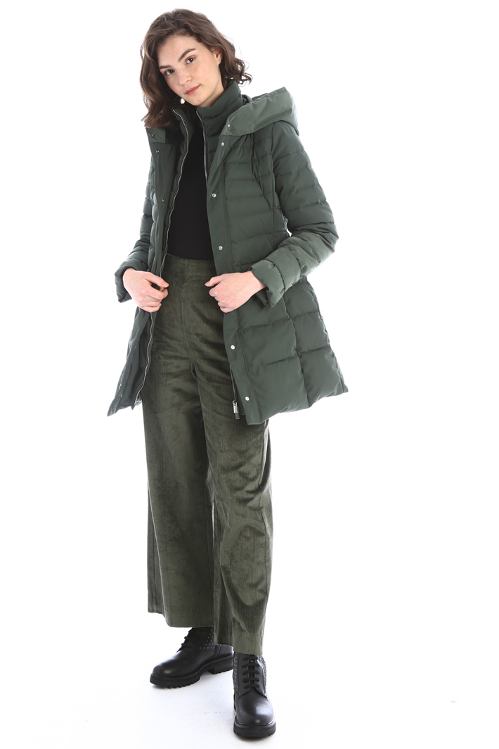 Long fitted padded coat Intrend
