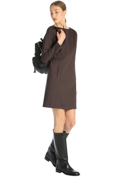 Straight jacquard dress Intrend