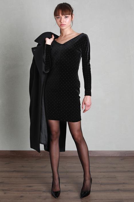 Velvet dress with studs Intrend