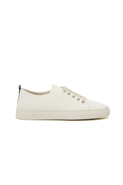 Lace-up wool fabric sneakers Intrend
