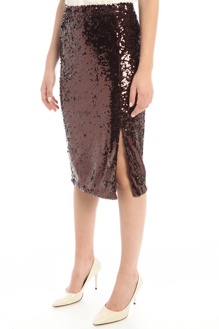 Sequinned tube skirt Intrend