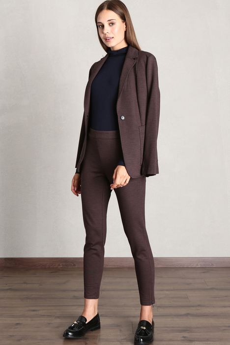 Skinny jacquard trousers Intrend