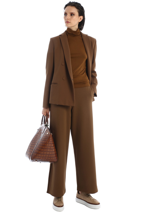 Wide leg twill trousers Intrend