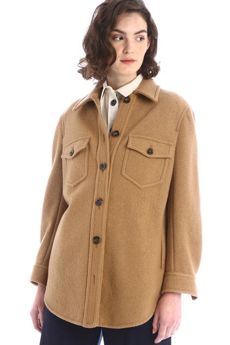 Caban modello camicia in lana Intrend