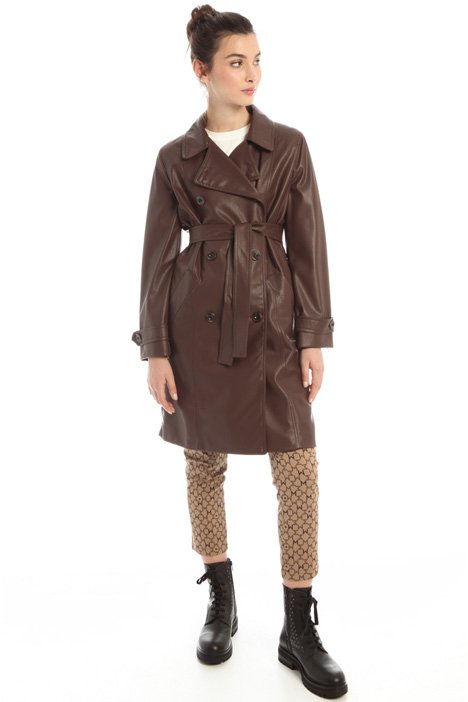 Faux leather trench coat Intrend