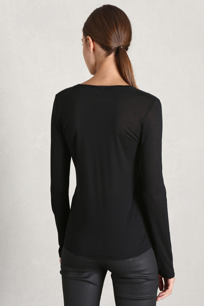 Fitted cashmere T-shirt Intrend
