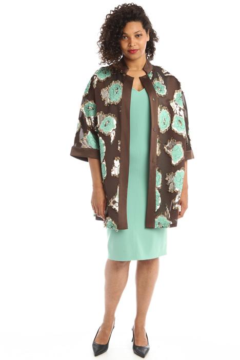 Fil coupé silk blend shirt  Intrend