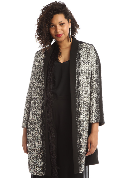 Tweed and cady duster coat Intrend