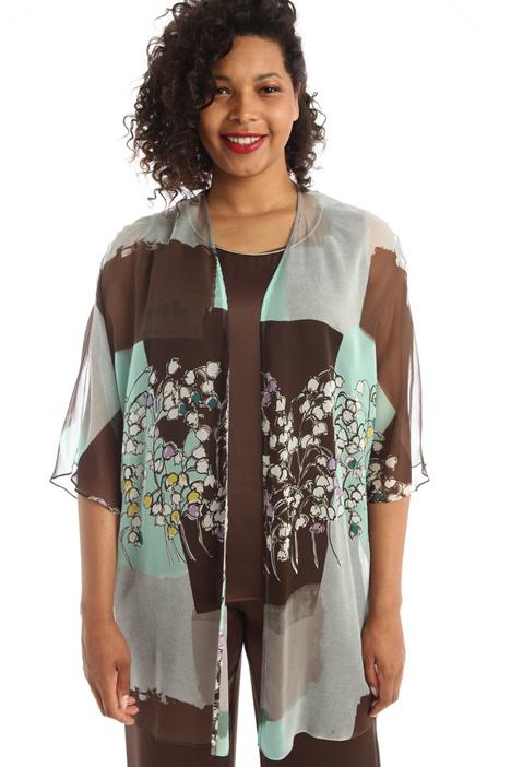 Silk georgette coat Intrend