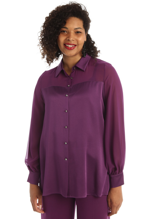 Satin and georgette shirt Intrend