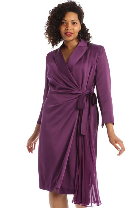 Wrap-up satin dress Intrend