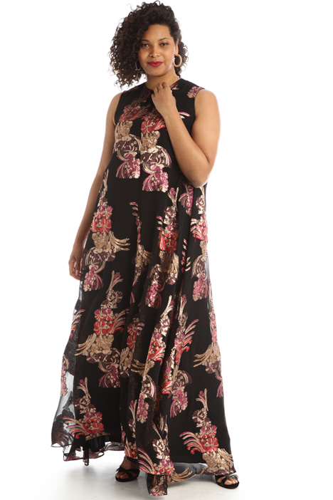 Flared voile dress Intrend