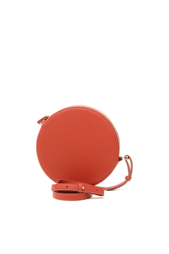 Faux leather rpund bag Intrend
