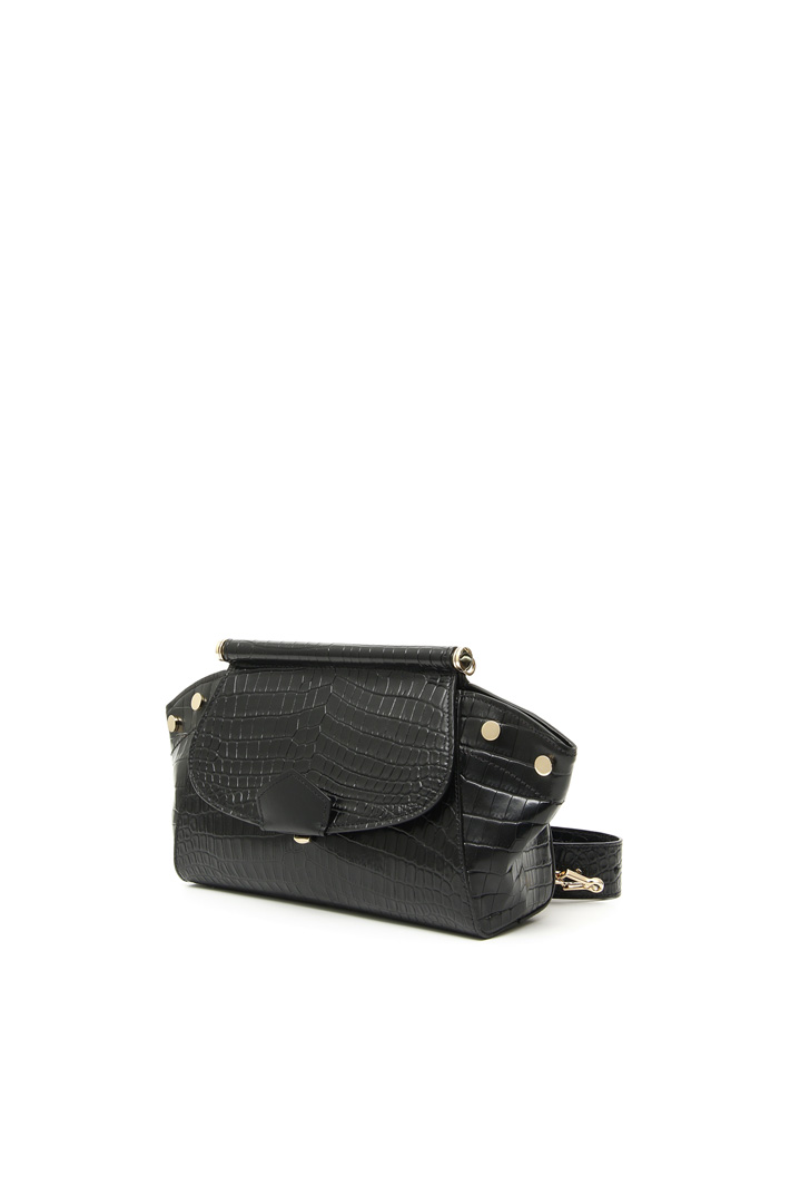 Crocodile-print leather clutch Intrend
