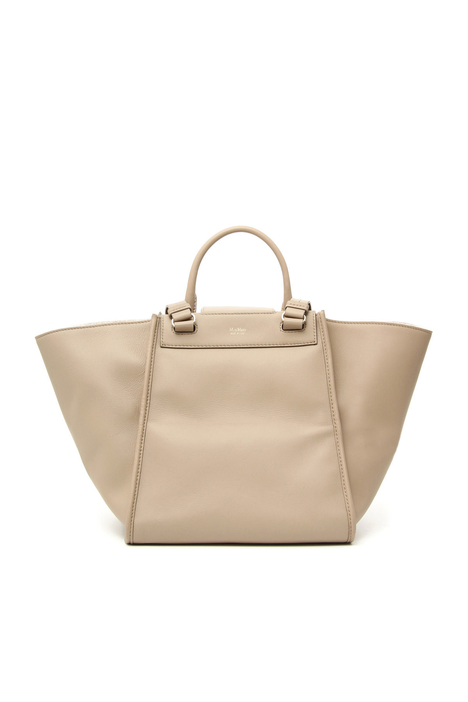 Leather and cashmere bag Intrend