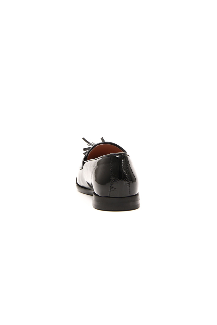Leather moccasin with tassels Intrend