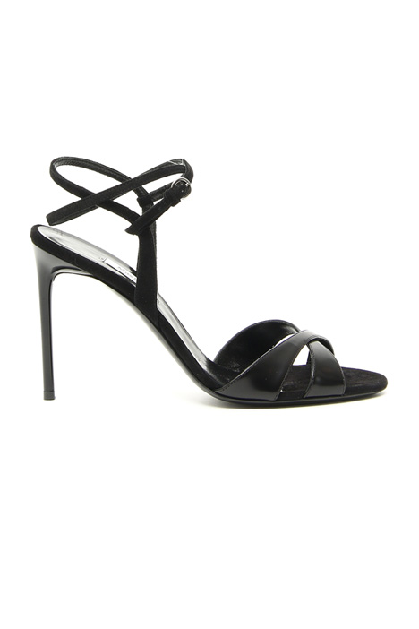 Polished leather sandals Intrend