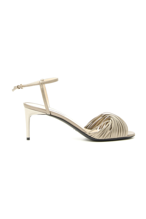 Laminated nappa sandals Intrend