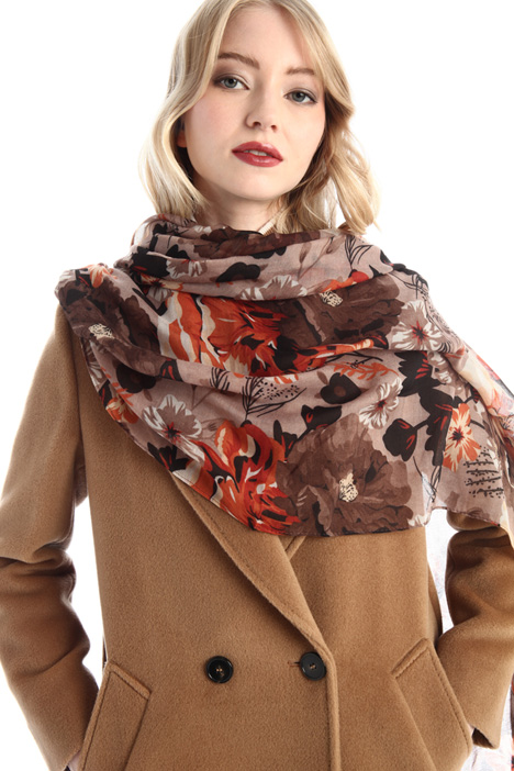 Patterned canvas stole Intrend