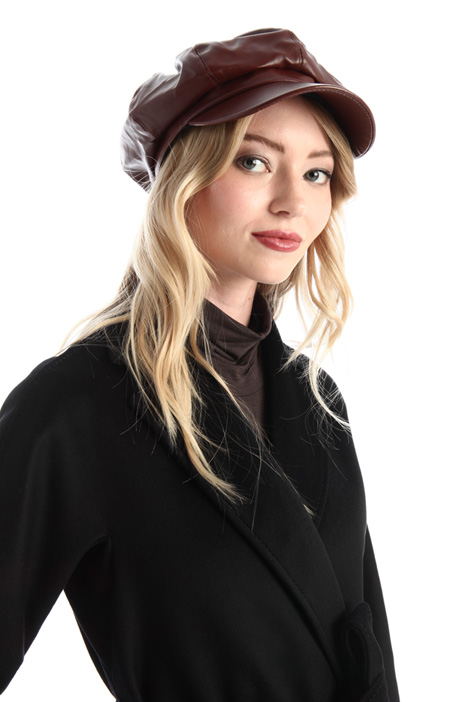 Faux leather beret Intrend