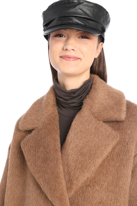 Faux leather hat Intrend