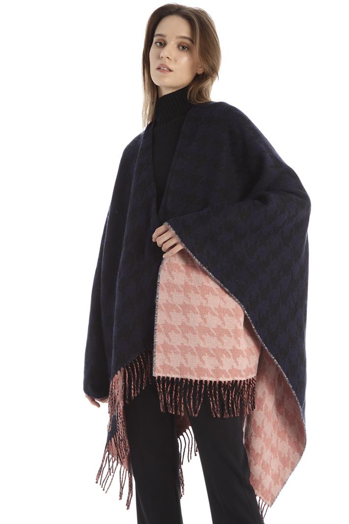 Wool cloth poncho Intrend