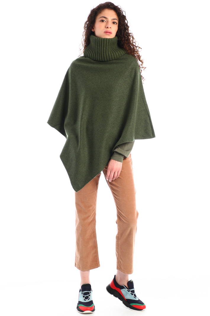 High neck poncho Intrend