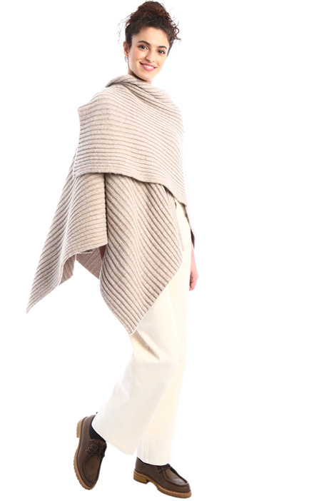 Ribbed poncho Intrend