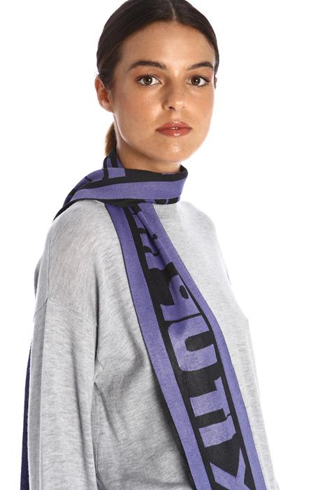 Jacquard knit scarf Intrend
