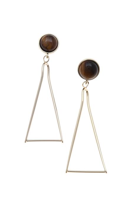 Quartz drop earrings Intrend