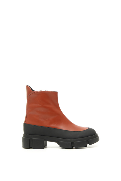 Leather and rubber boots Intrend