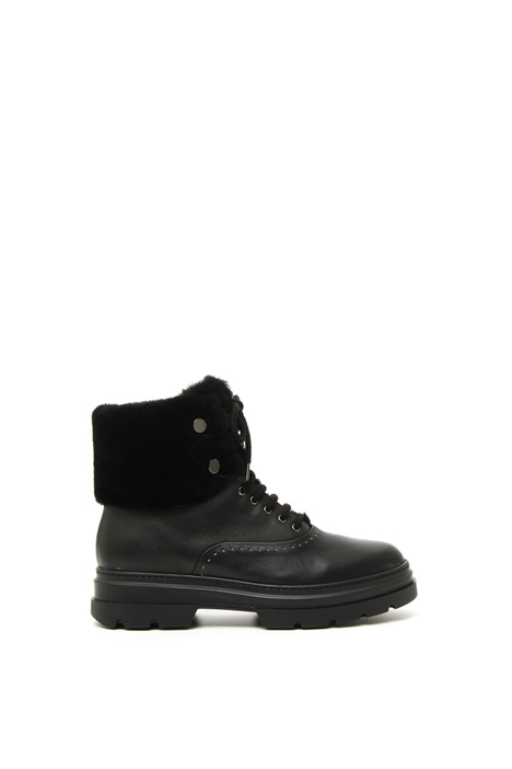 Leather and shearling boots Intrend