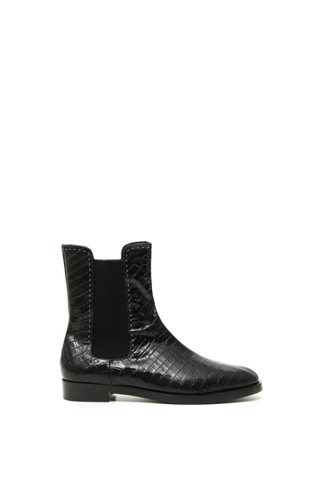 Crocodile-print ankle boots Intrend