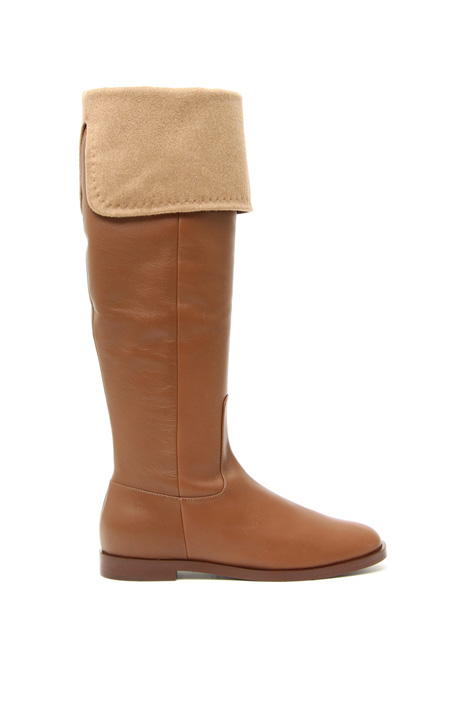 Folded leather boots Intrend