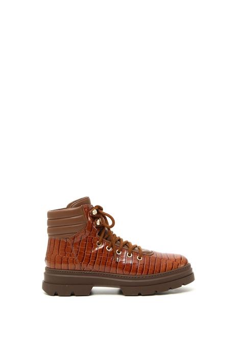 Croc-print boots Intrend