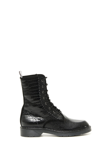 Croc print boots Intrend
