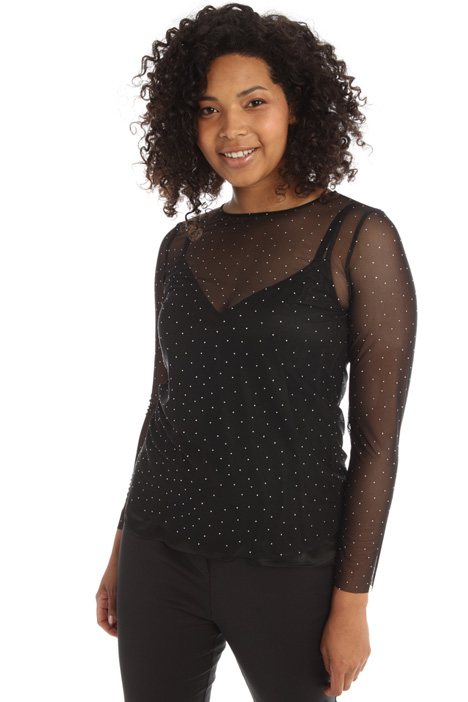 Studded tulle top Intrend