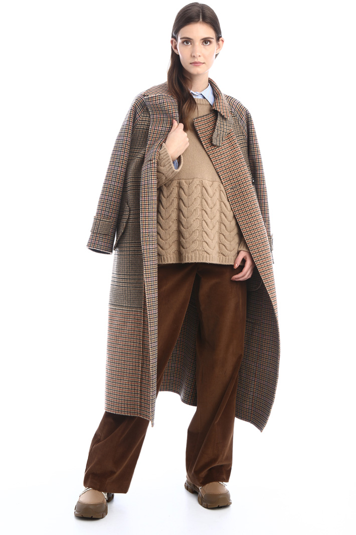 Cappotto patchwork in lana Intrend