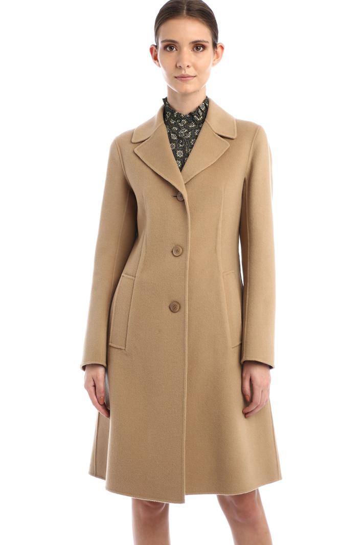 Cappotto sfiancato in lana Intrend