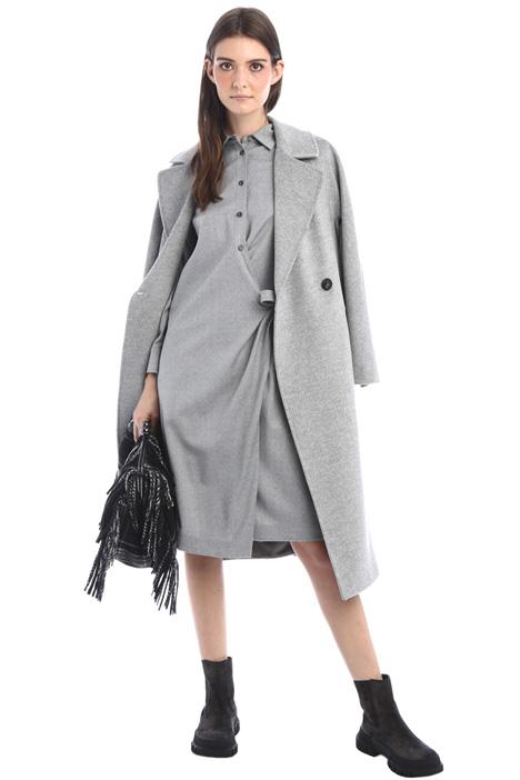 Cappotto vestaglia in lana Intrend