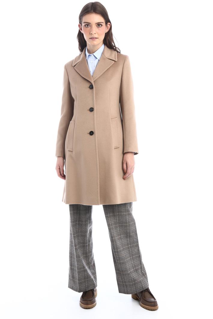 Sable-like wool coat Intrend