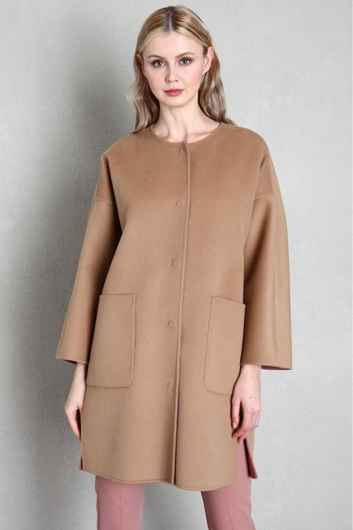 Cappotto reversibile in lana Intrend