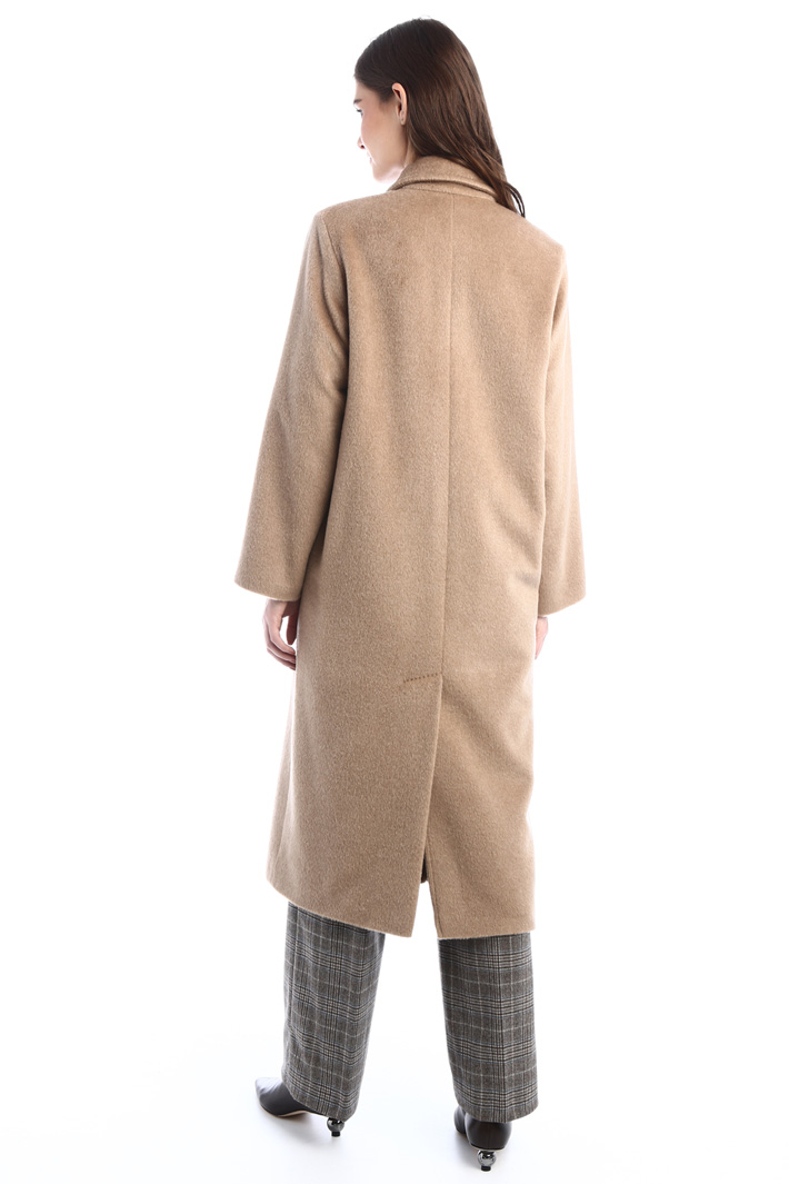 Long beaver coat Intrend